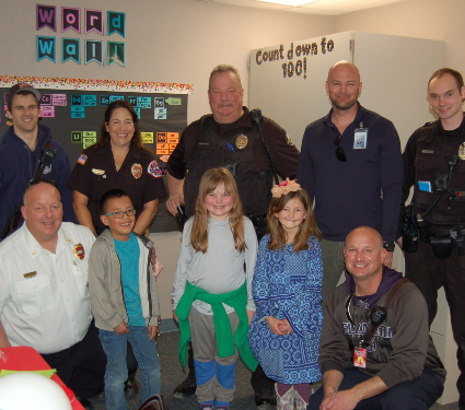 Firehouse Subs Sponsored First Responder Lunch with SHE Students