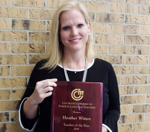 EHS TEACHER NAMED COLORADO CONGRESS OF FOREIGN LANGUAGE TEACHER OF THE YEAR