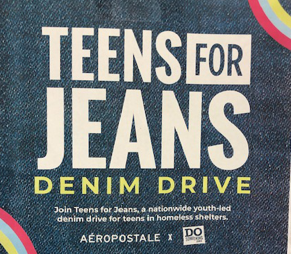 Teens For Jeans Denim Drive